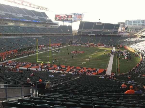 Paul Brown Stadium, section: 151, row: 50, seat: 13
