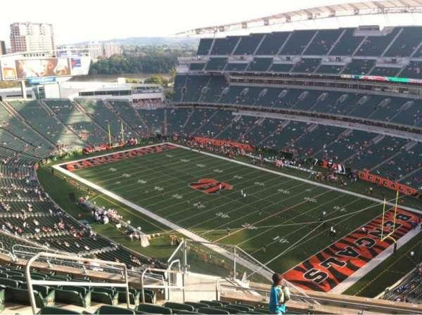 Paul Brown Stadium, section: 333, row: 22, seat: 10