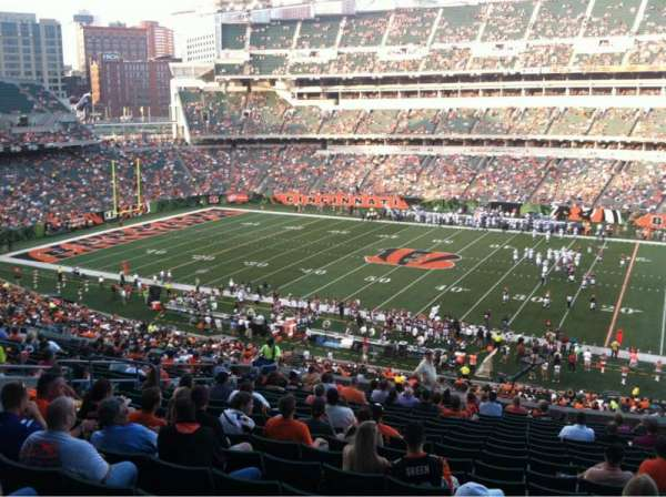 Paul Brown Stadium, section: 207, row: 19, seat: 6
