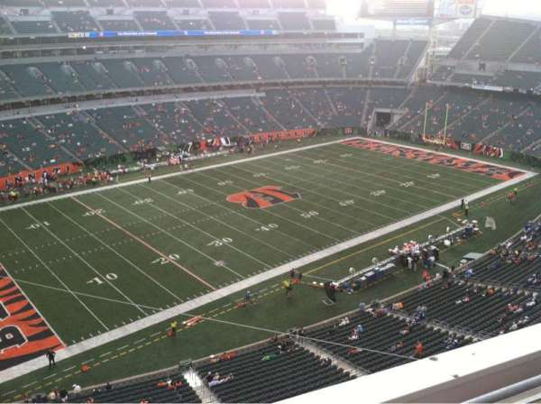 Paul Brown Stadium, section: 345, row: 2, seat: 10