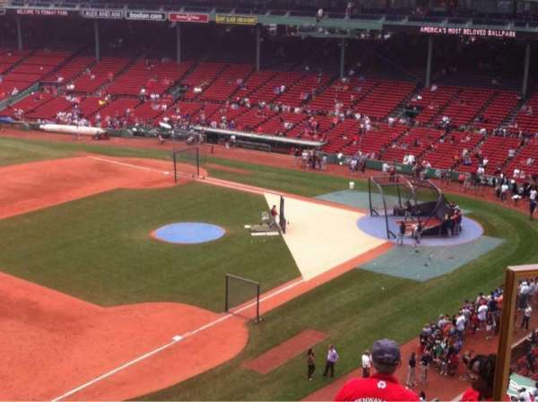 Fenway Park, section: pavilion box 14, row: B, seat: 2