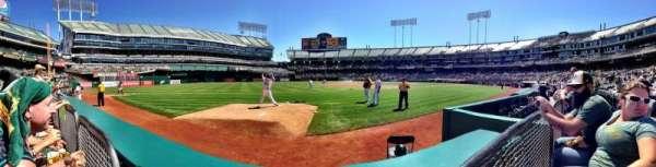 Oakland Coliseum, section: 107, row: 1, seat: 2