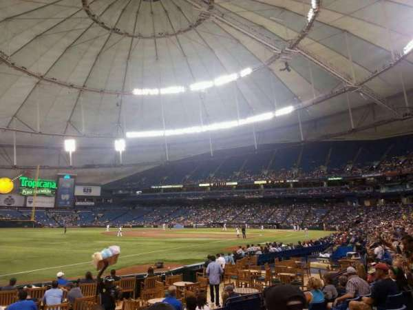Tropicana Field, section: 133, row: P, seat: 3
