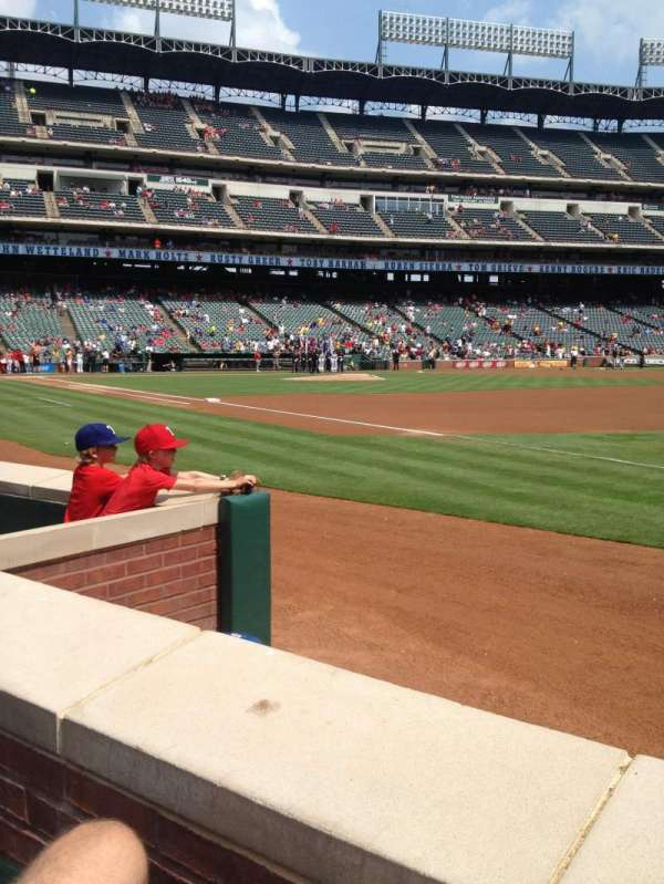 Globe Life Park in Arlington, section: 37, row: 1, seat: 6