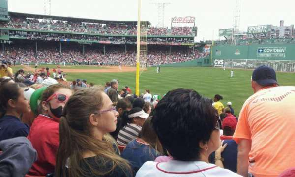 Fenway Park, section: Right Field Box, row: NN, seat: 2