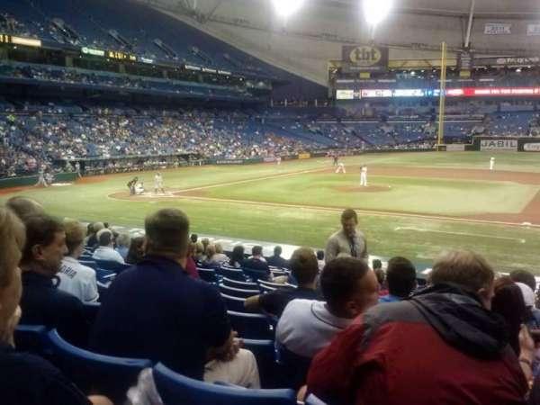 Tropicana Field, section: 118, row: AA, seat: 8