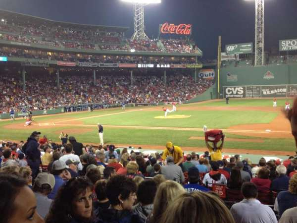 Fenway Park, section: Loge Box 112, row: GG, seat: 2