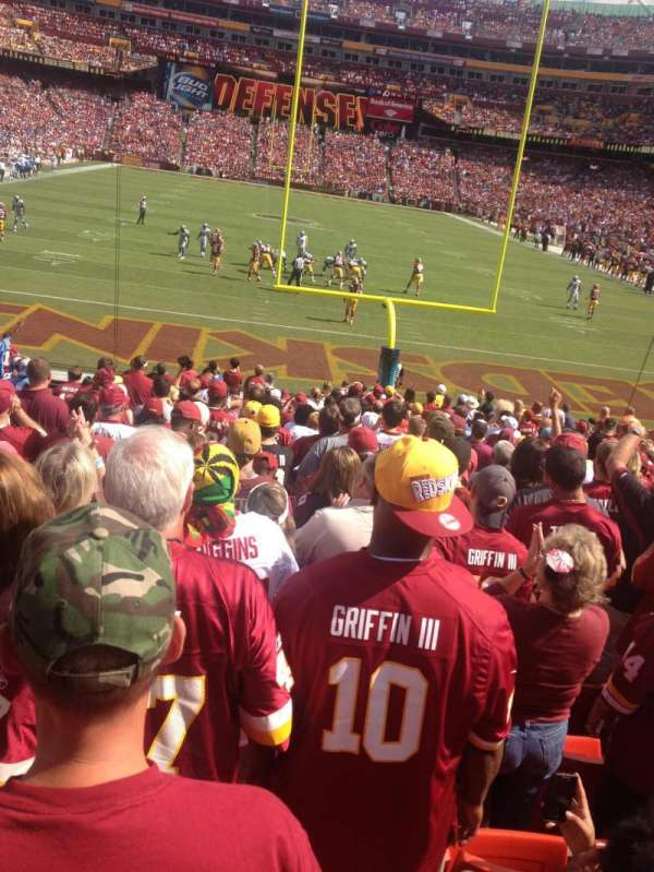 FedEx Field, section: 111, row: 18, seat: 19