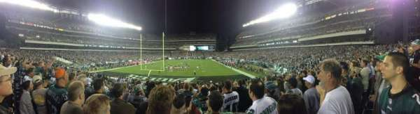 Lincoln Financial Field, section: 130, row: 20