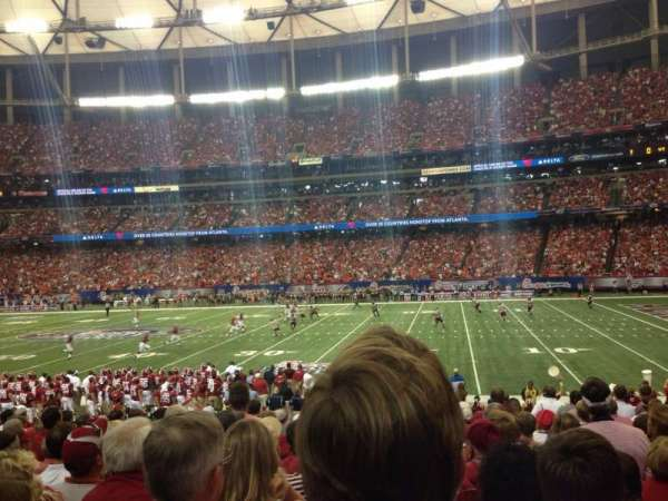 Georgia Dome, section: 115, row: 17, seat: 11