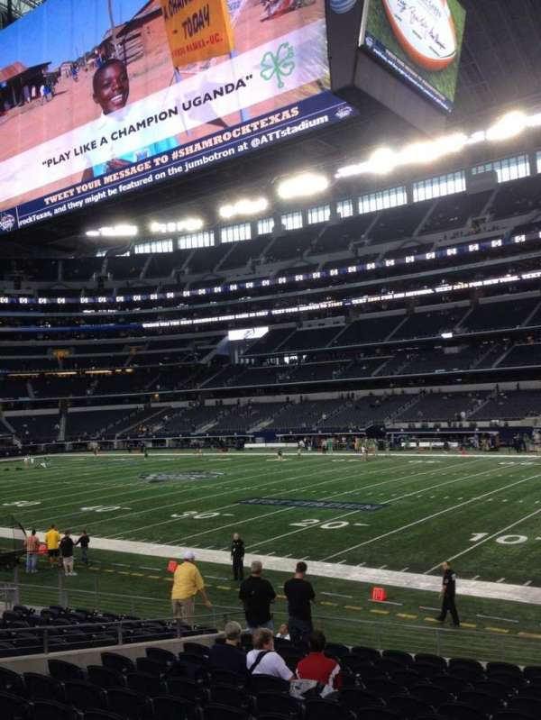 AT&T Stadium, section: C107, row: 11, seat: 9