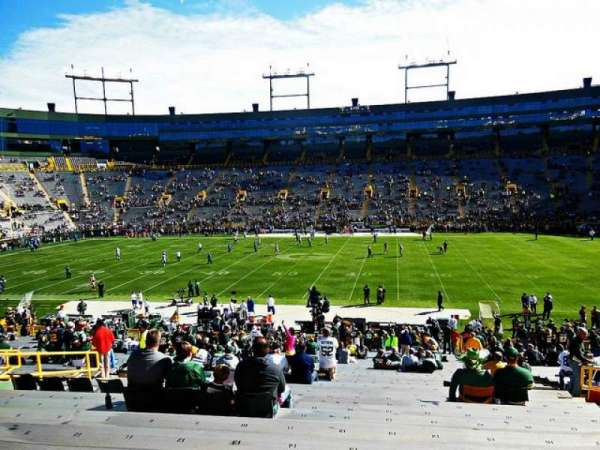 Lambeau Field, section: 122, row: 38, seat: 16