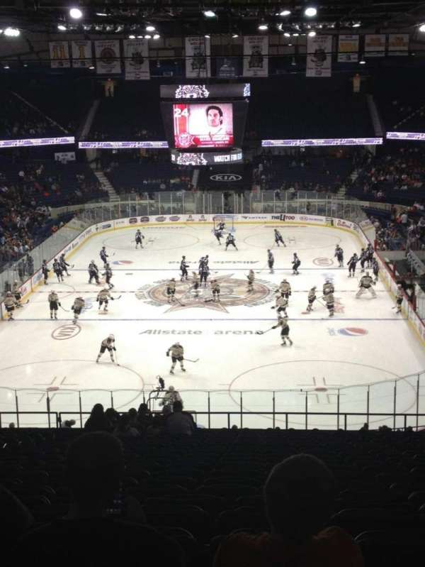 Allstate Arena, section: 214, row: W, seat: 18