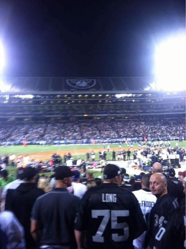 Oakland Coliseum, section: 118, row: 18, seat: 15