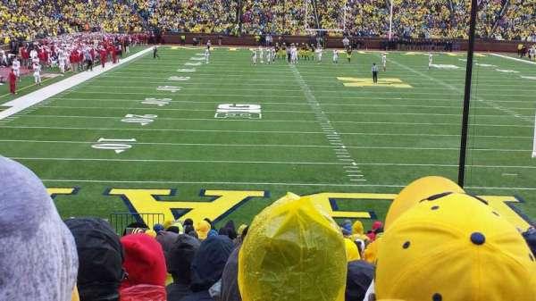 Michigan Stadium, section: 35, row: 27, seat: 15