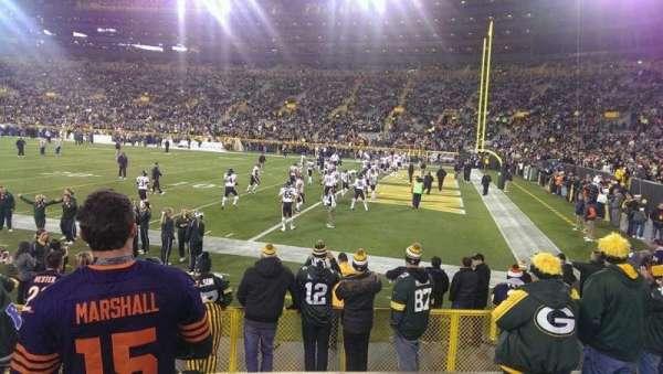 Lambeau Field, section: 109, row: 8, seat: 7