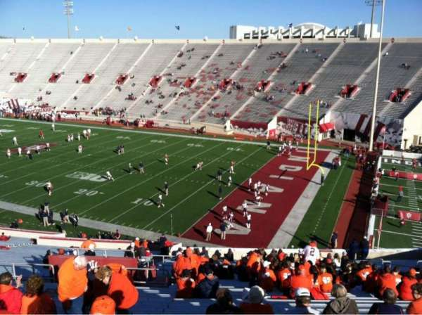 Memorial Stadium (Indiana), section: 2, row: 56, seat: 109