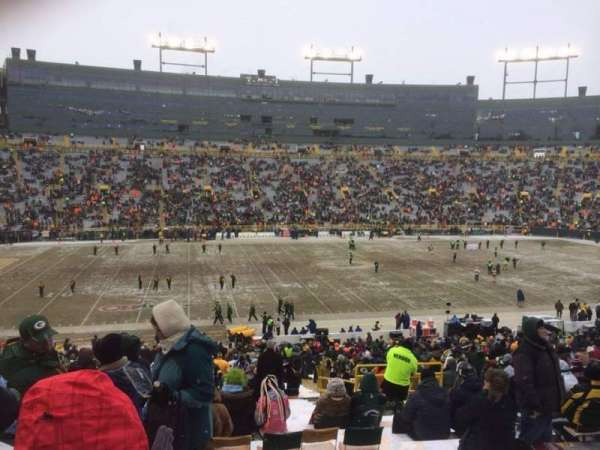 Lambeau Field, section: 123, row: 45, seat: 9