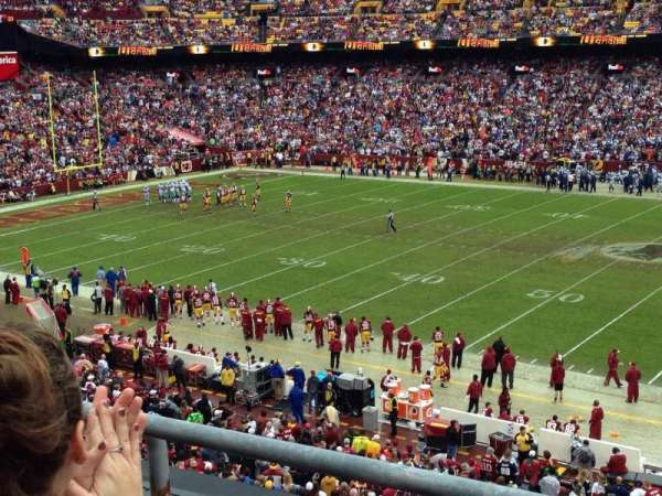 Fedex Field, section: 341, row: 2, seat: 5
