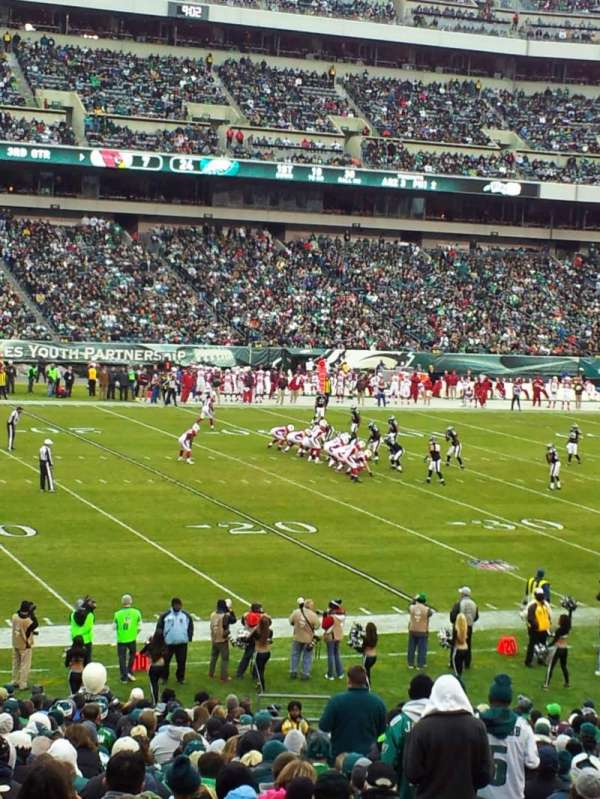 Lincoln Financial Field, section: 135, row: 31, seat: 1