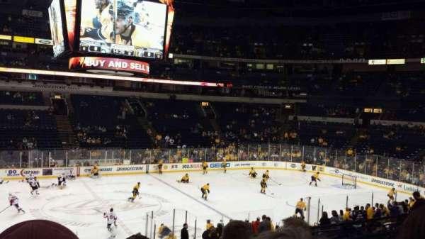 Bridgestone Arena, section: 115, row: C, seat: 16