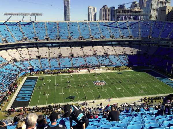 Bank of America Stadium, section: 544, row: 34, seat: 9