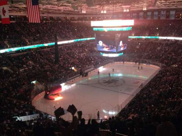 SAP Center, section: 220, row: 15, seat: 2
