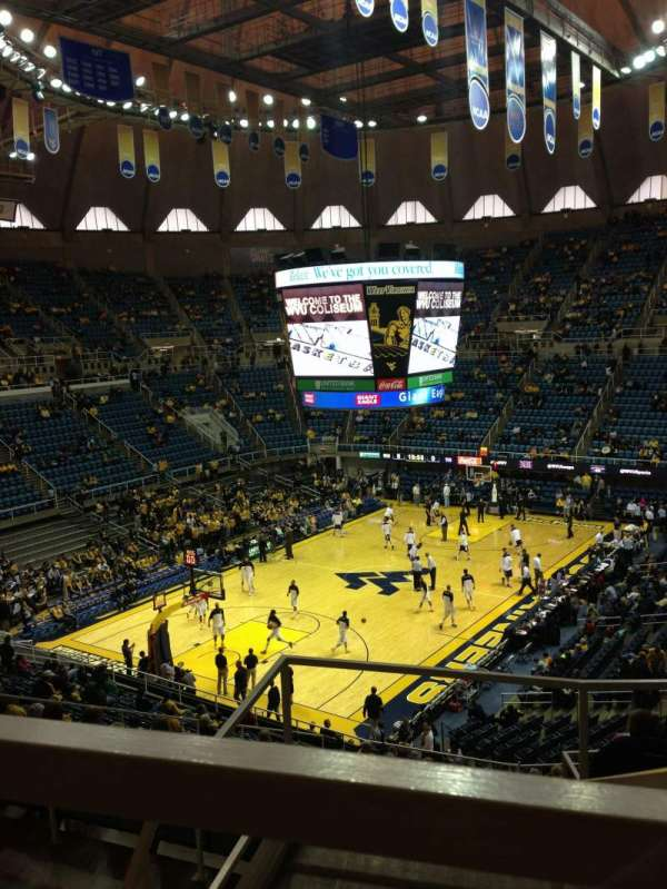 WVU Coliseum, section: 80, row: E, seat: 1