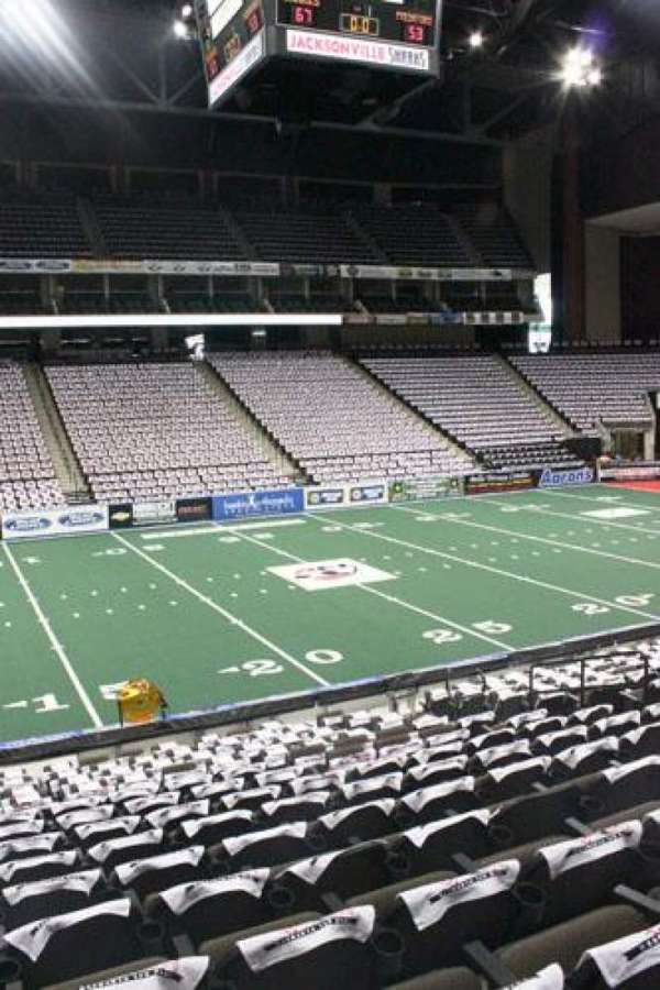 VyStar Veterans Memorial Arena, section: 104, row: P, seat: 8