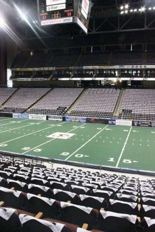 VyStar Veterans Memorial Arena, section: 113, row: L, seat: 8
