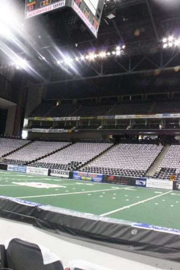 Jacksonville Veterans Memorial Arena, section: 113, row: B, seat: 6