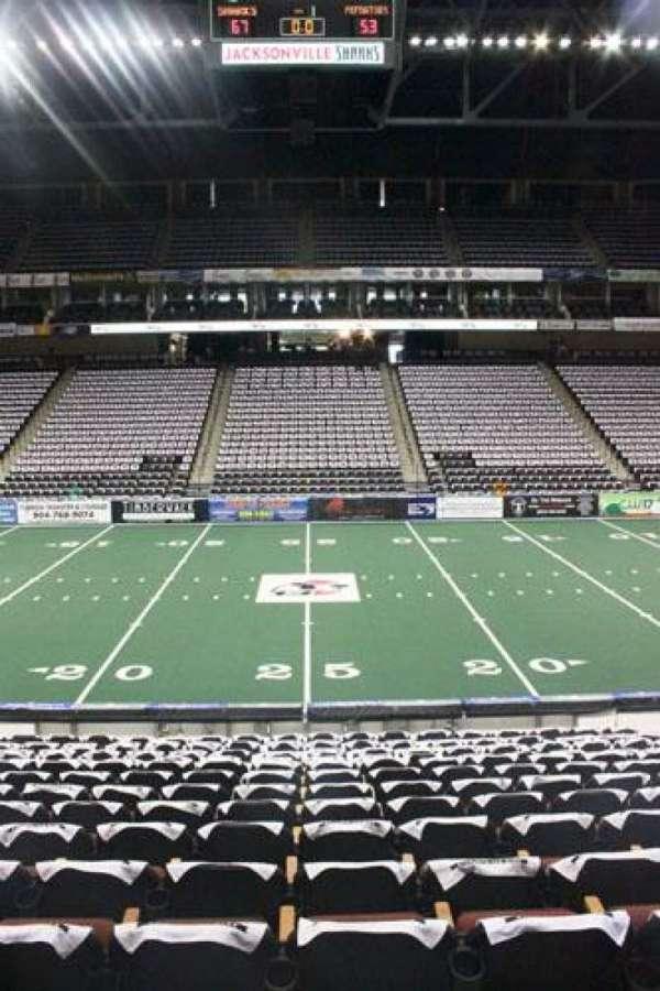 Jacksonville Veterans Memorial Arena, section: 114, row: K, seat: 10