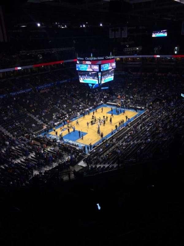 Chesapeake Energy Arena, section: 313, row: P, seat: 11