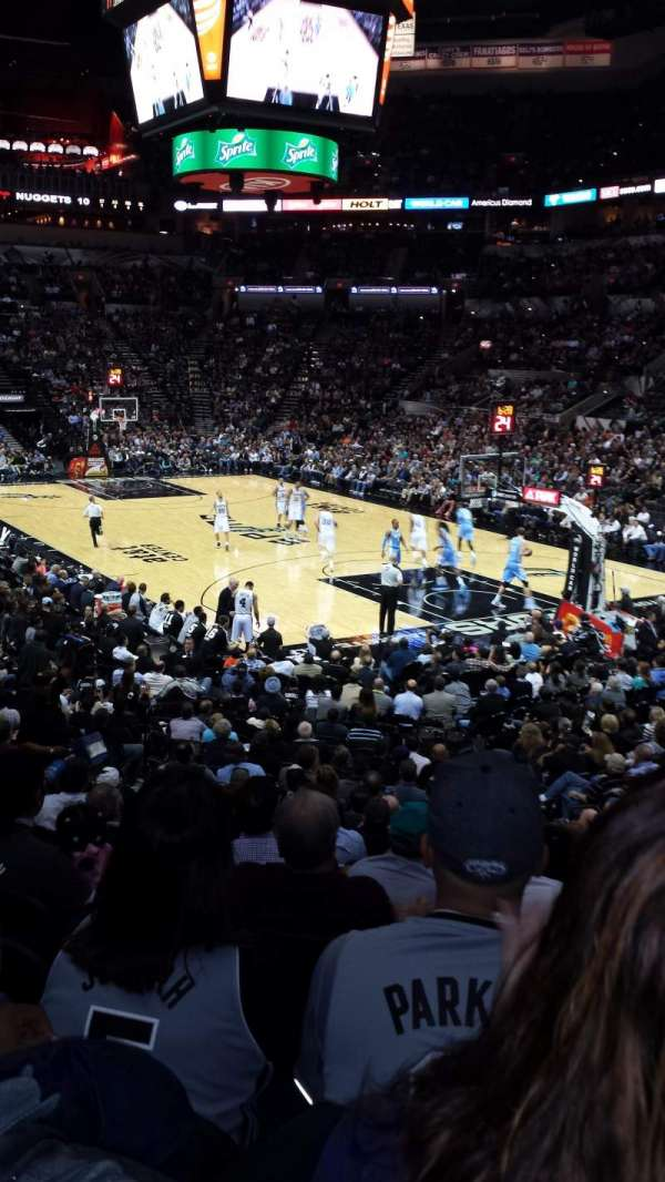 AT&T Center, section: 103, row: 15, seat: 5