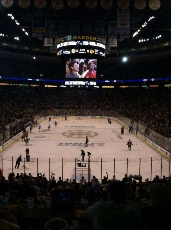 TD Garden, section: Loge 18, row: 21, seat: 1