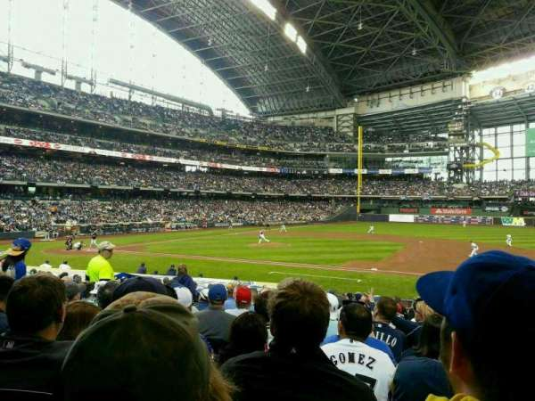 Miller Park, section: 112, row: 21, seat: 7