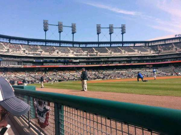 Comerica Park, section: 117, row: 1, seat: 5