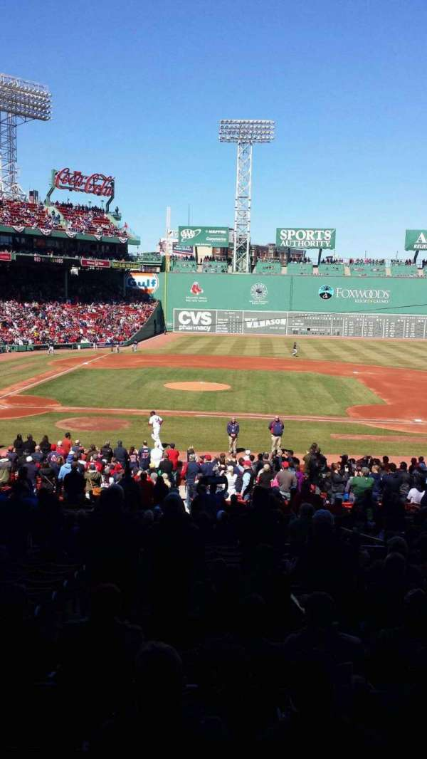 Fenway Park, section: Grandstand 16, row: 6, seat: 8