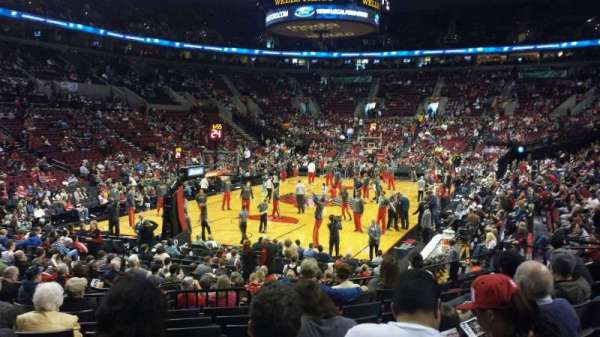 Moda Center, section: 105, row: j, seat: 13