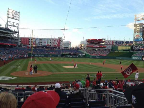 Nationals Park, section: 126, row: F, seat: 4