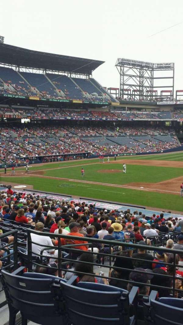 Turner Field, section: 217, row: 1, seat: 5