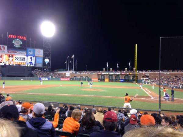 Oracle Park, section: 121, row: I, seat: 6