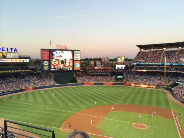 Turner Field, section: 410R, row: 3, seat: 3