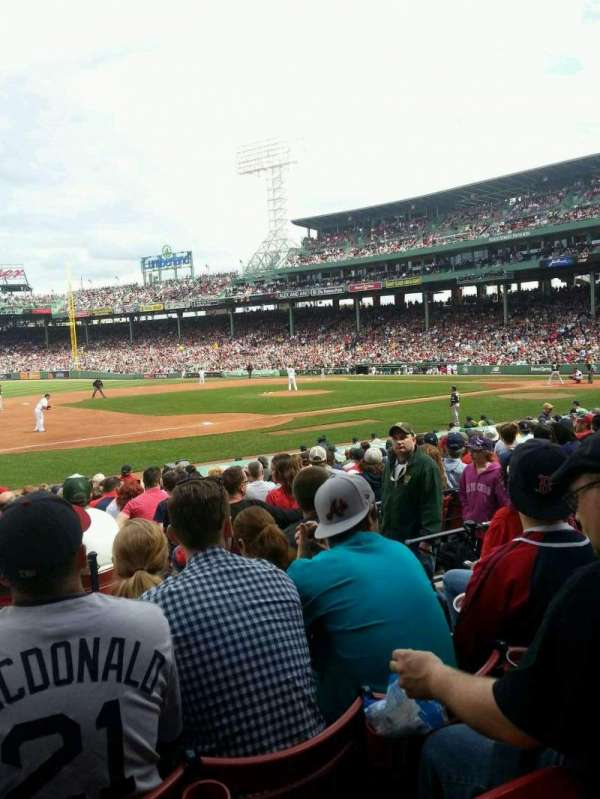 Fenway Park, section: Loge Box 155, row: DD, seat: 5