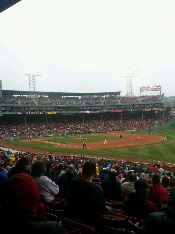Fenway Park, section: Grandstand 10, row: 1, seat: 1