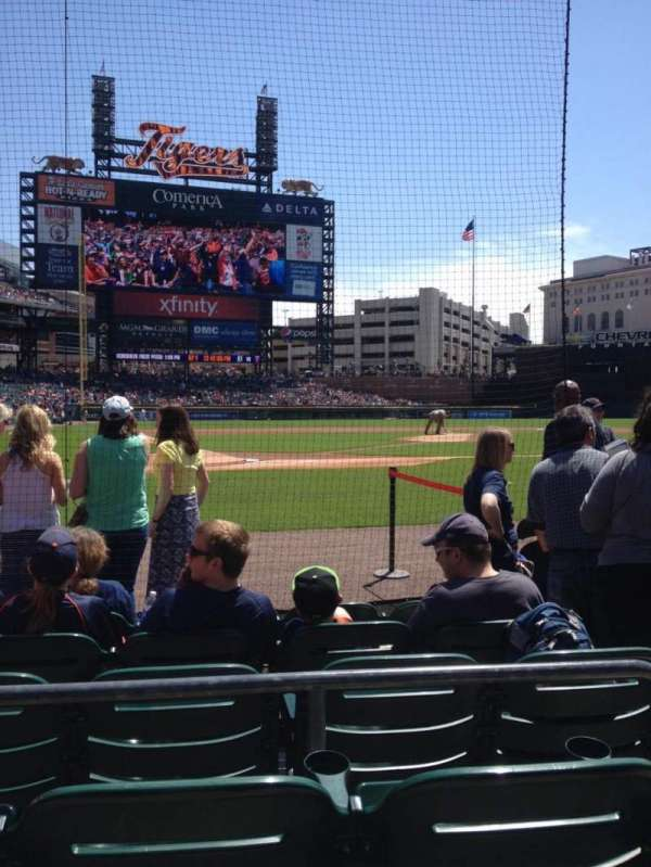 Comerica Park, section: 125, row: 6, seat: 3