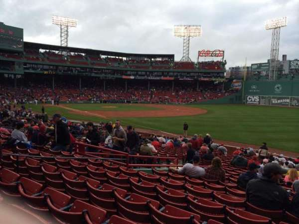 Fenway park, section: Right Field Box 95, row: rr, seat: 4