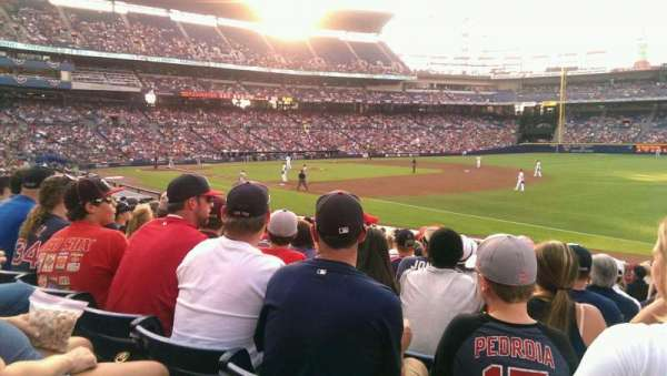 Turner Field, section: 121L, row: 20, seat: 106
