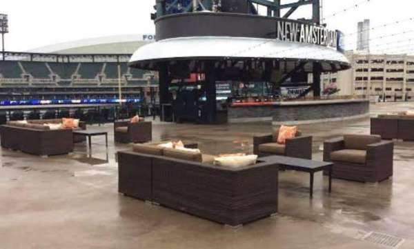 Comerica Park, section: Pepsi Porch, row: New Amsterda, seat: Open Air Seat