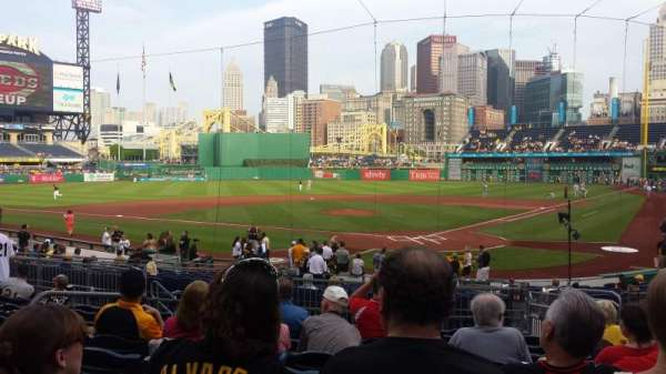 PNC Park, section: 117, row: K, seat: 17